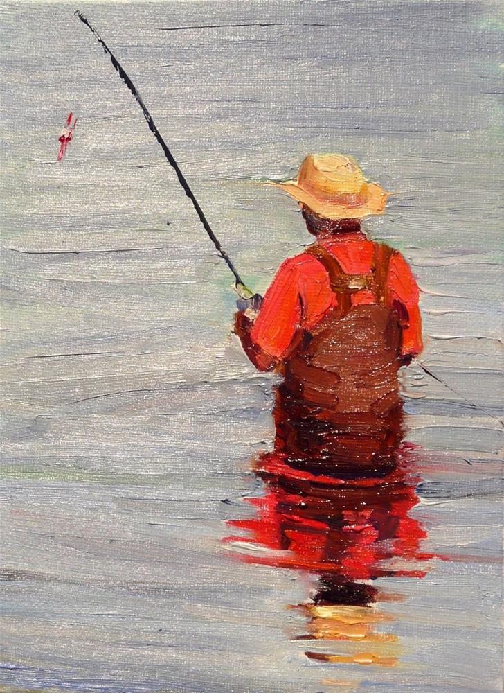 """The Reflections Challenge,figure,oil on canvas,8x5,price$250"" original fine art by Joy Olney"