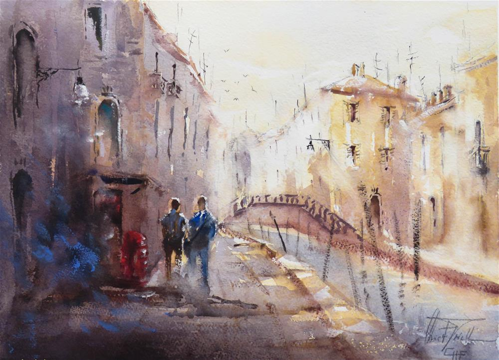 """Impression of Venice"" original fine art by Christa Friedl"