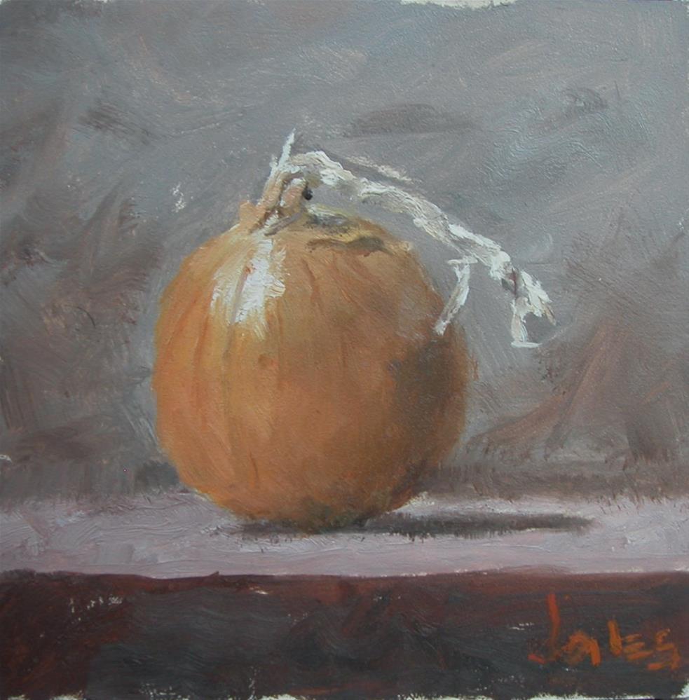 """Yellow Onion"" original fine art by Richard Jones"