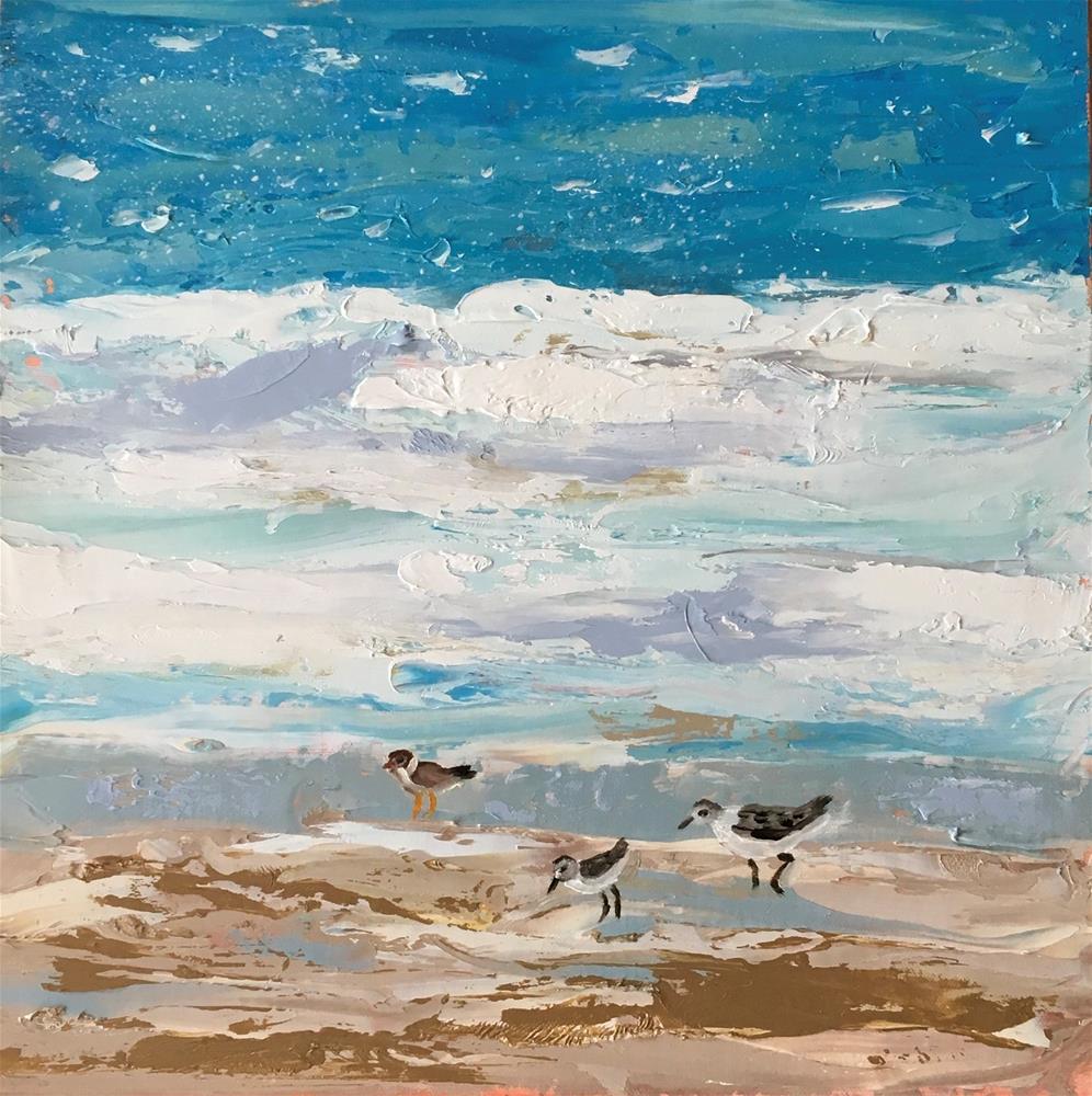 """Shorebirds"" original fine art by Patty Barnes"