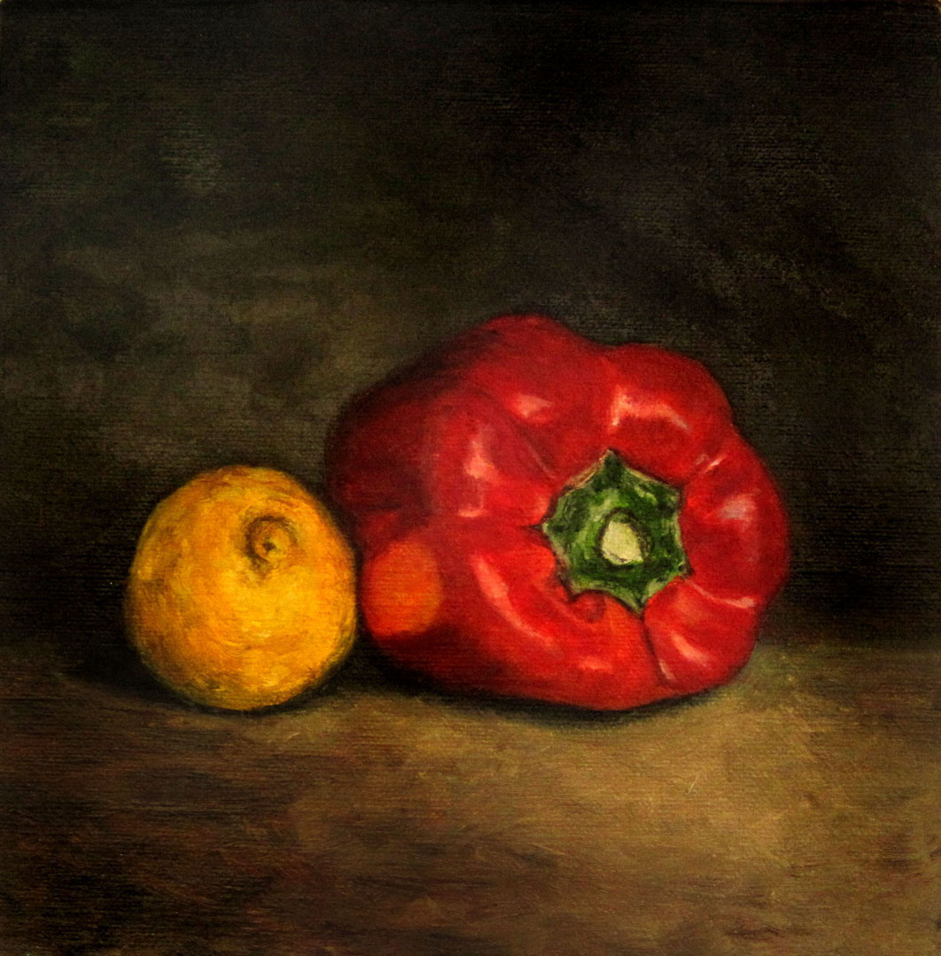 """Vitamins in Red and Yellow"" original fine art by Ulrike Miesen-Schuermann"