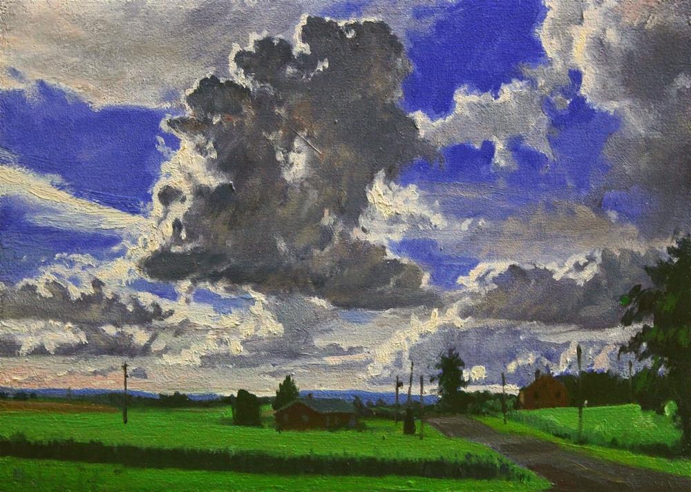 """""""Backlit Cloud"""" original fine art by Ski Holm"""