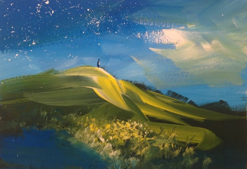 """""""Out There"""" original fine art by David Kuhn"""