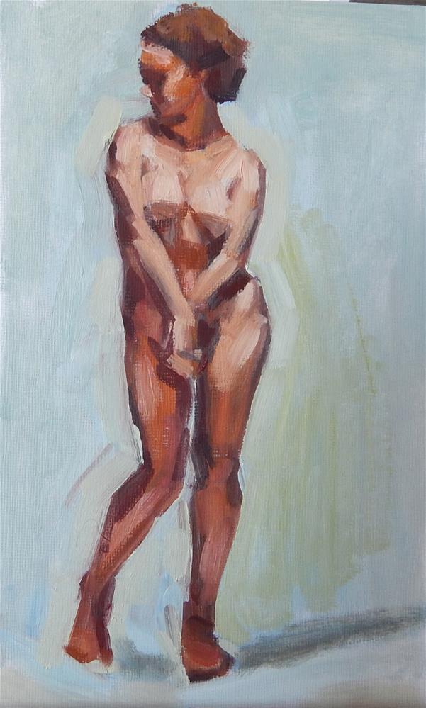 """Cute Pose"" original fine art by Megan Schembre"