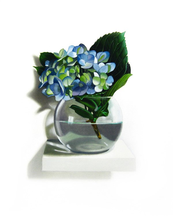"""Blue Hydrangea 8x10"" original fine art by M Collier"