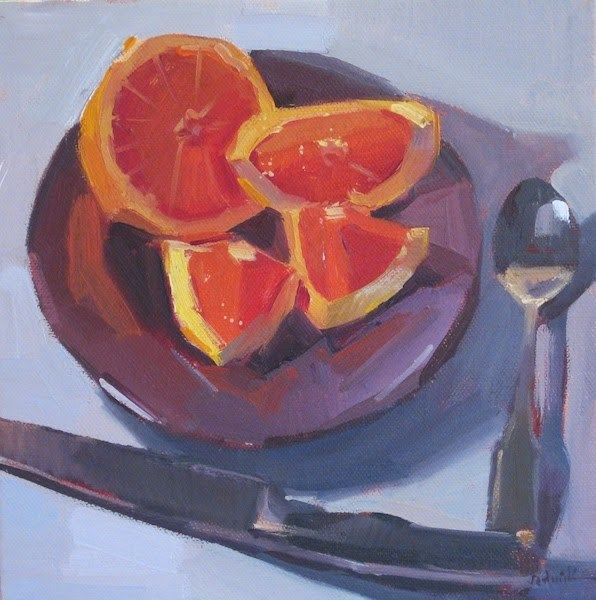 """Grapefruit In Four"" original fine art by Sarah Sedwick"