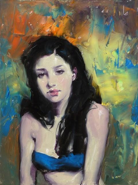 """Blue Bikini"" original fine art by John Larriva"