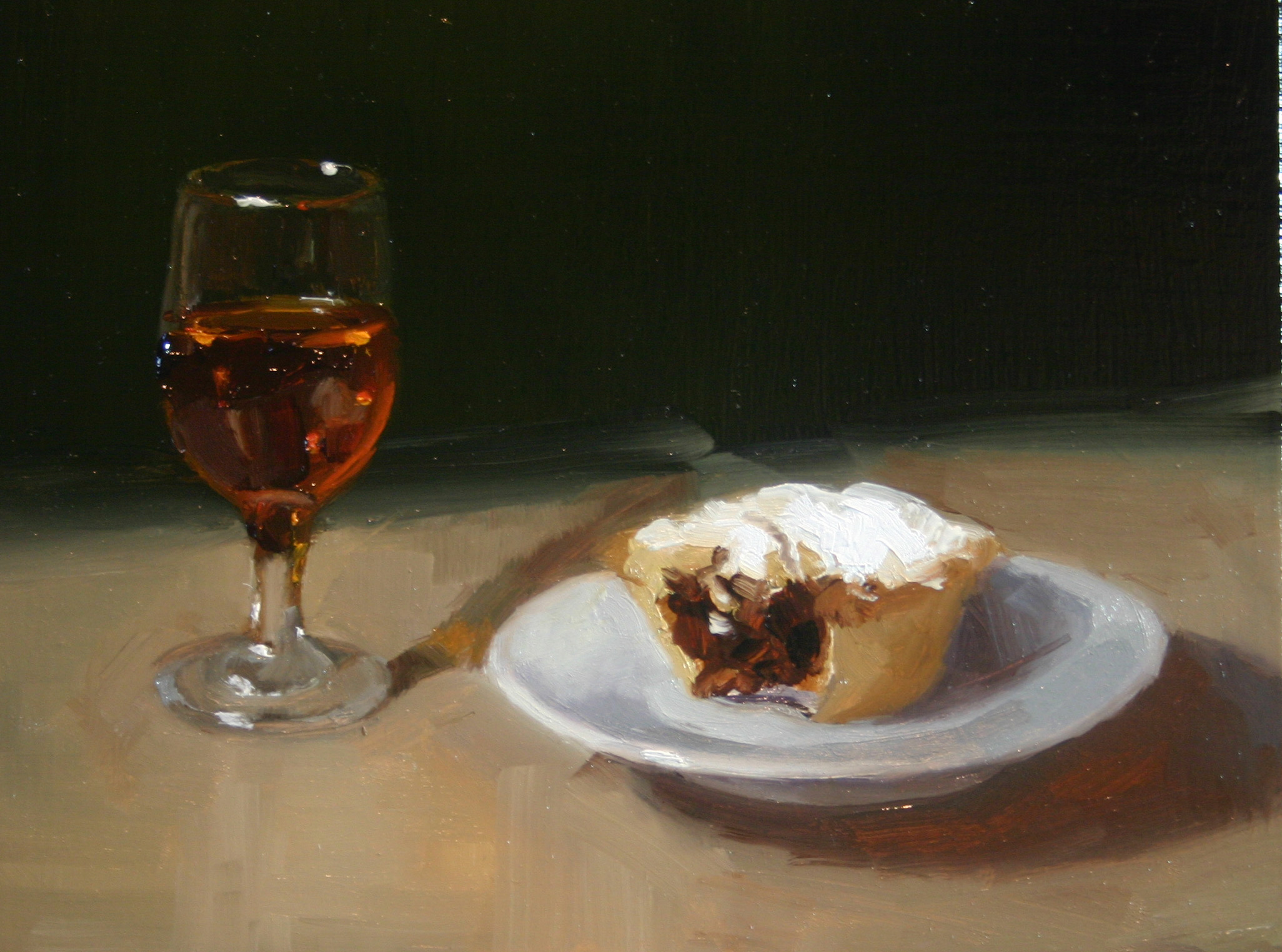 """Santa's Snack"" original fine art by Liz Balkwill"