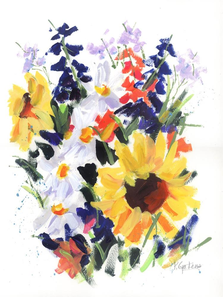 """""""Sunflower Bouquet"""" original fine art by Pamela Gatens"""