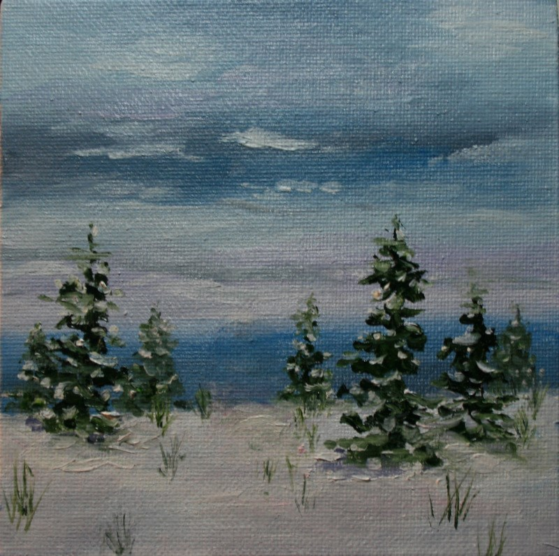 """Snow at the Seacoast"" original fine art by Jean Nelson"