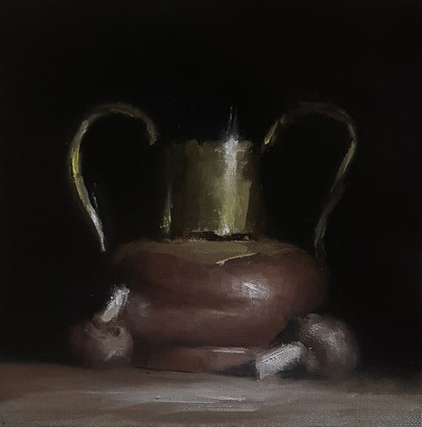 """Copper and Brass Jug"" original fine art by Neil Carroll"