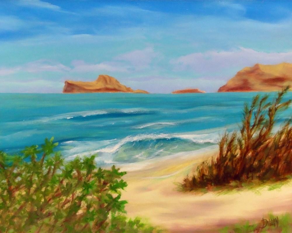 """""""Rabbit Island From Bellows"""" original fine art by Dalan Wells"""