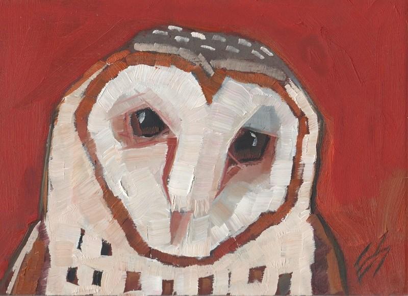 """""""Barn Owl"""" original fine art by Elizabeth See"""