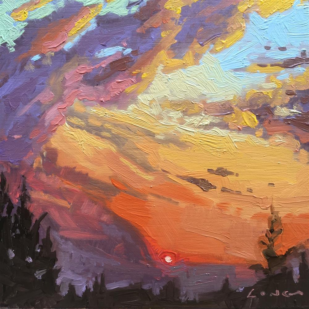 """Red Sun II"" original fine art by Chris Long"