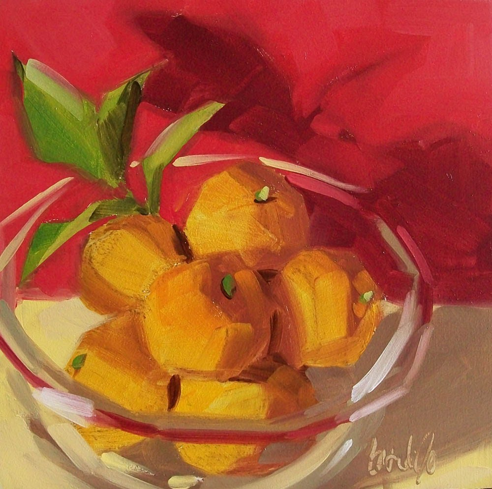 """Happy bowl"" original fine art by Brandi Bowman"
