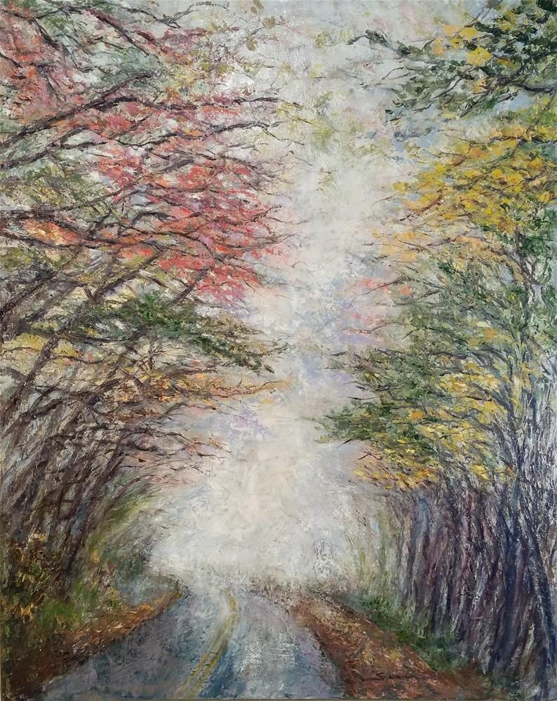 """early morning in Blue ridge parkway"" original fine art by Sun Sohovich"