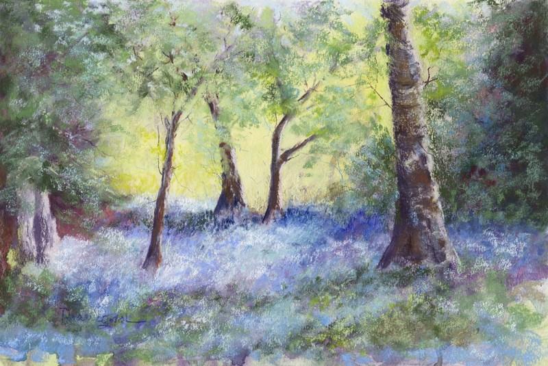 """Bluebell Woods"" original fine art by Norm Rossignol"
