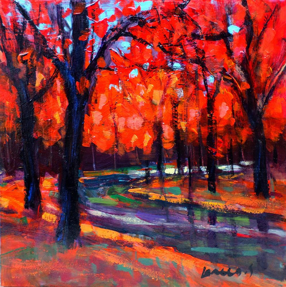 """the red trees 2"" original fine art by salvatore greco"