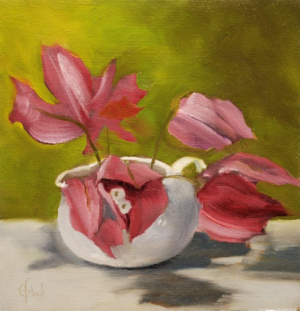 """Bougainvillea and Pitcher"" original fine art by Gary Westlake"