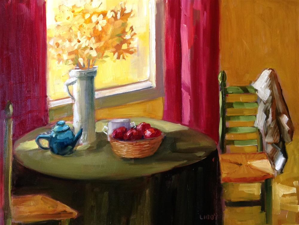 """""""Green Chair"""" original fine art by Libby Anderson"""