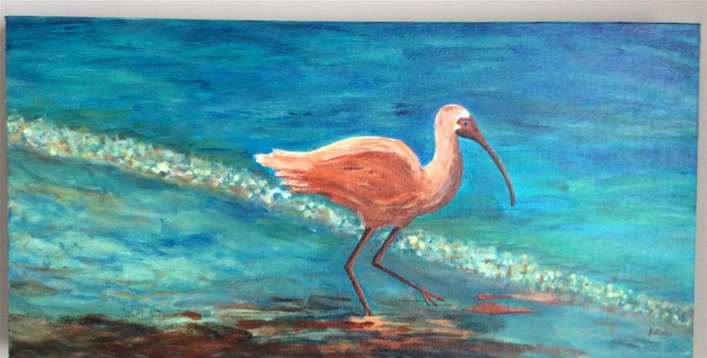 """Wading"" original fine art by Kathryn Ross"
