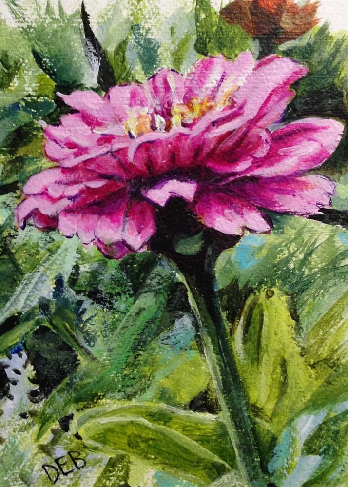 """Renfrow Flower"" original fine art by Debbie Yacenda"