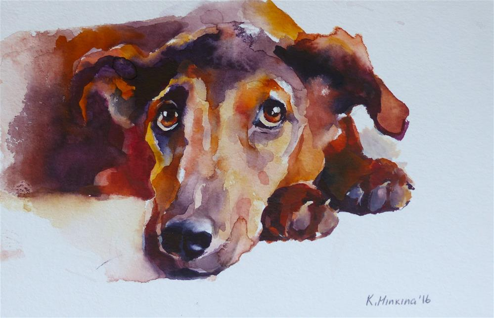 """adopt161"" original fine art by Katya Minkina"