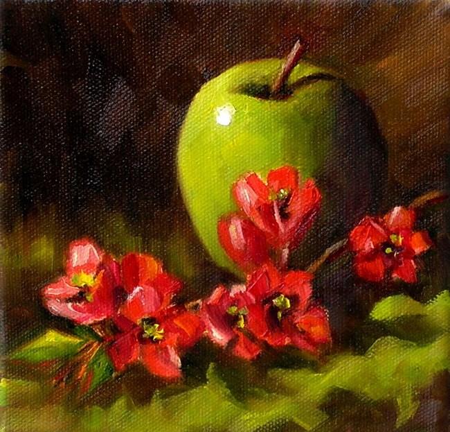 """Flowering Quince"" original fine art by Irina Beskina"