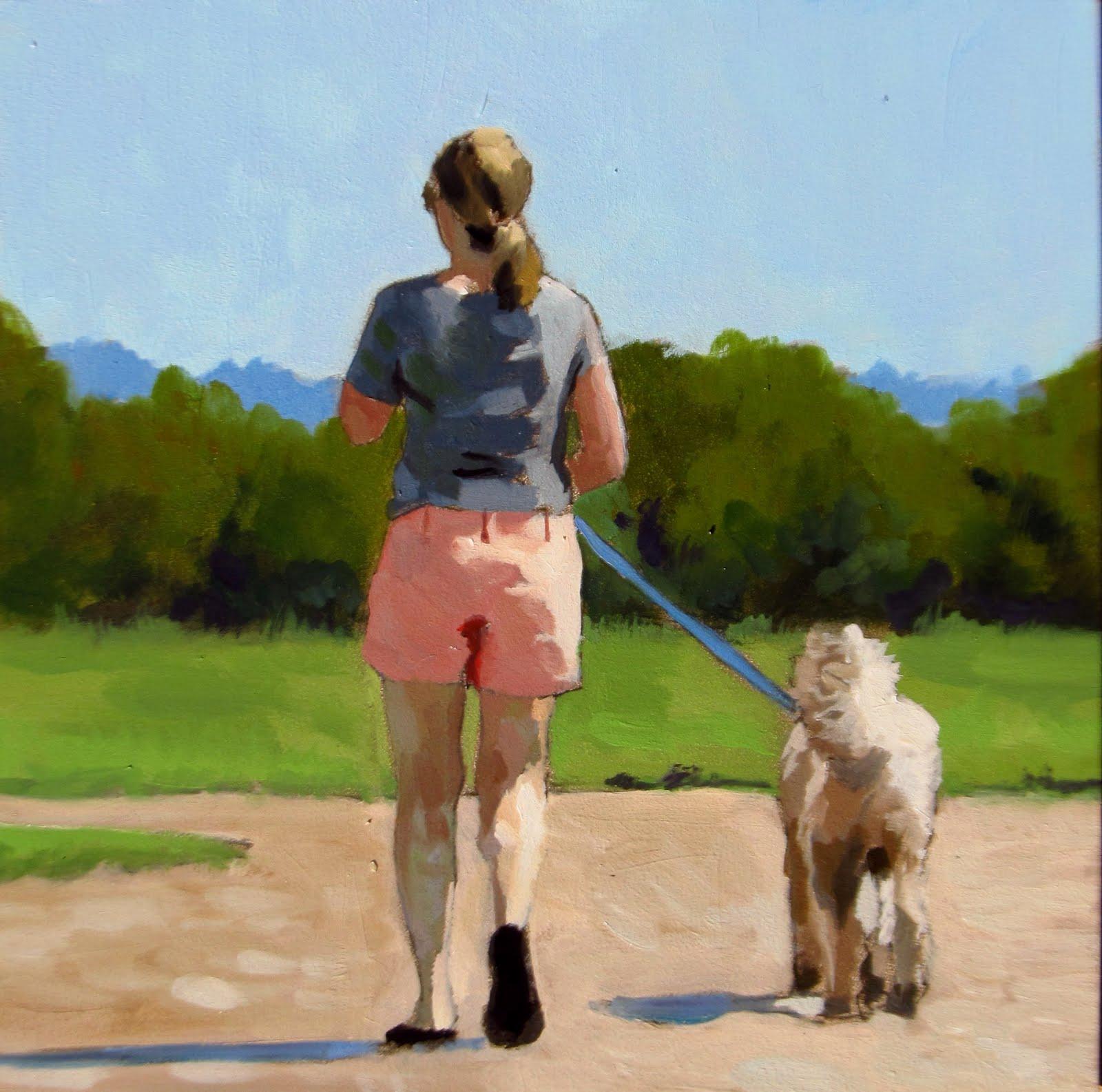"""DAILY DIAPER #204 Out For A Walk"" original fine art by Brian Burt"