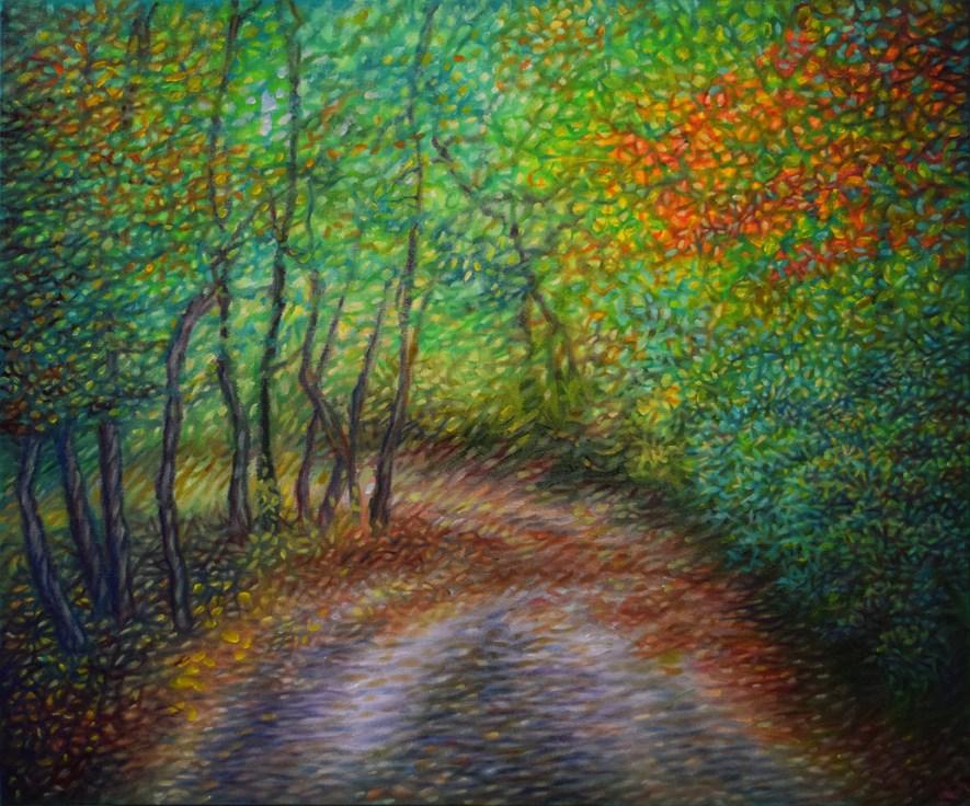 """Colorful Journey"" original fine art by Lori Fredricks"