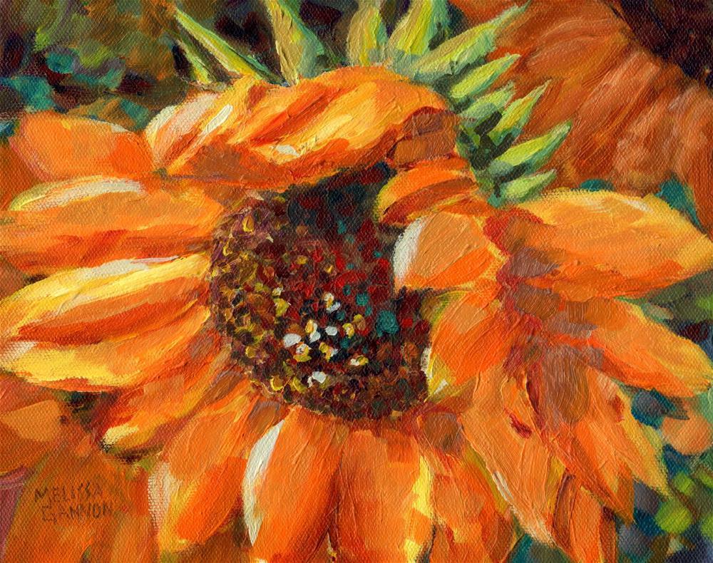 """""""Sunflower in Summer"""" original fine art by Melissa Gannon"""