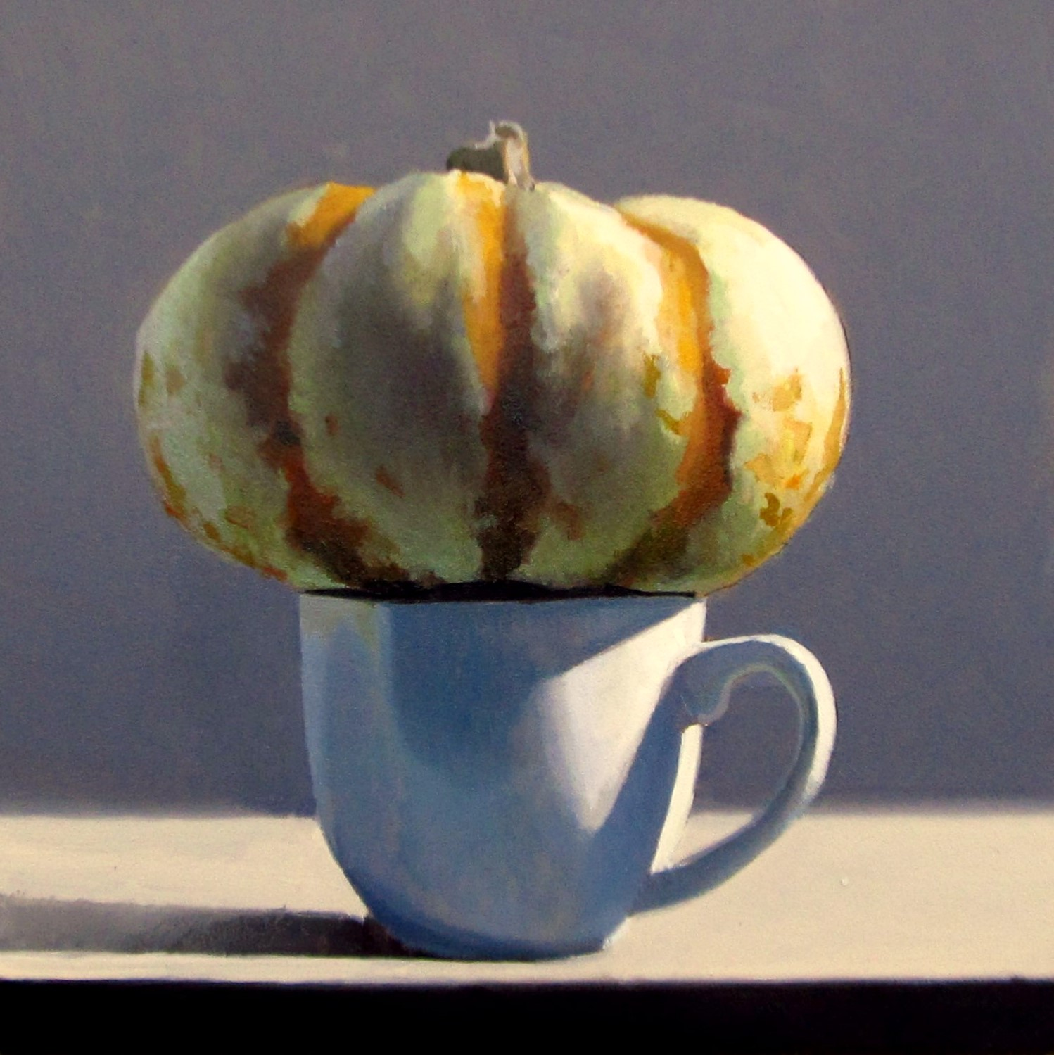 """DAILY DIAPER #218 A Shot of Pumpkin Spice"" original fine art by Brian Burt"