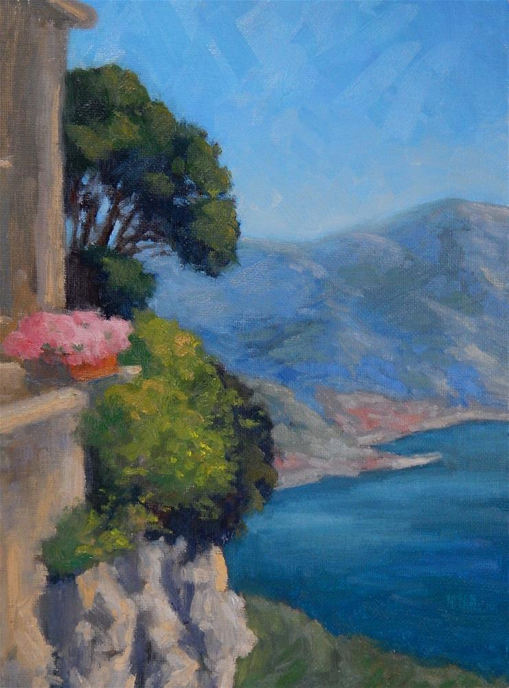 """View from Ravello"" original fine art by Lisa Kyle"