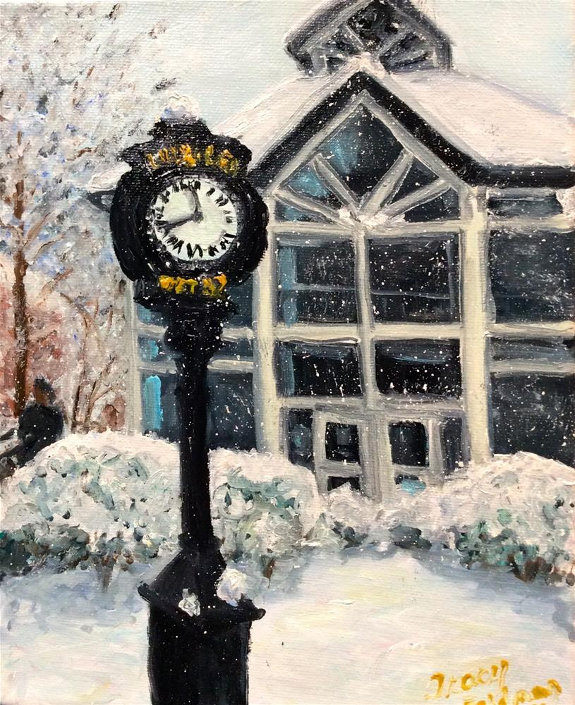 """Snowy Day at F&M 1"" original fine art by Tracy Feldman"