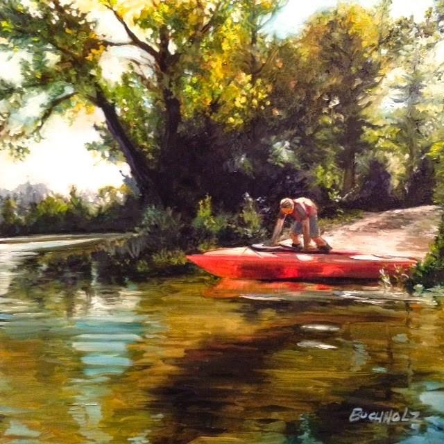 """Putting In"" original fine art by Terri Buchholz"