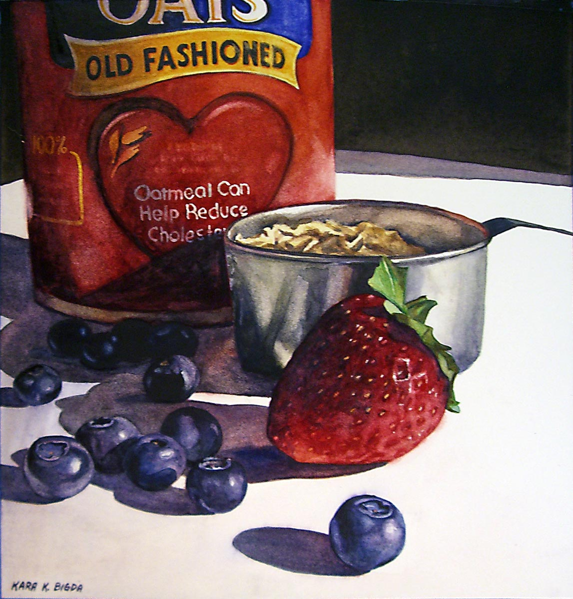 """An 'Old Fashioned' Breakfast"" original fine art by Kara K. Bigda"