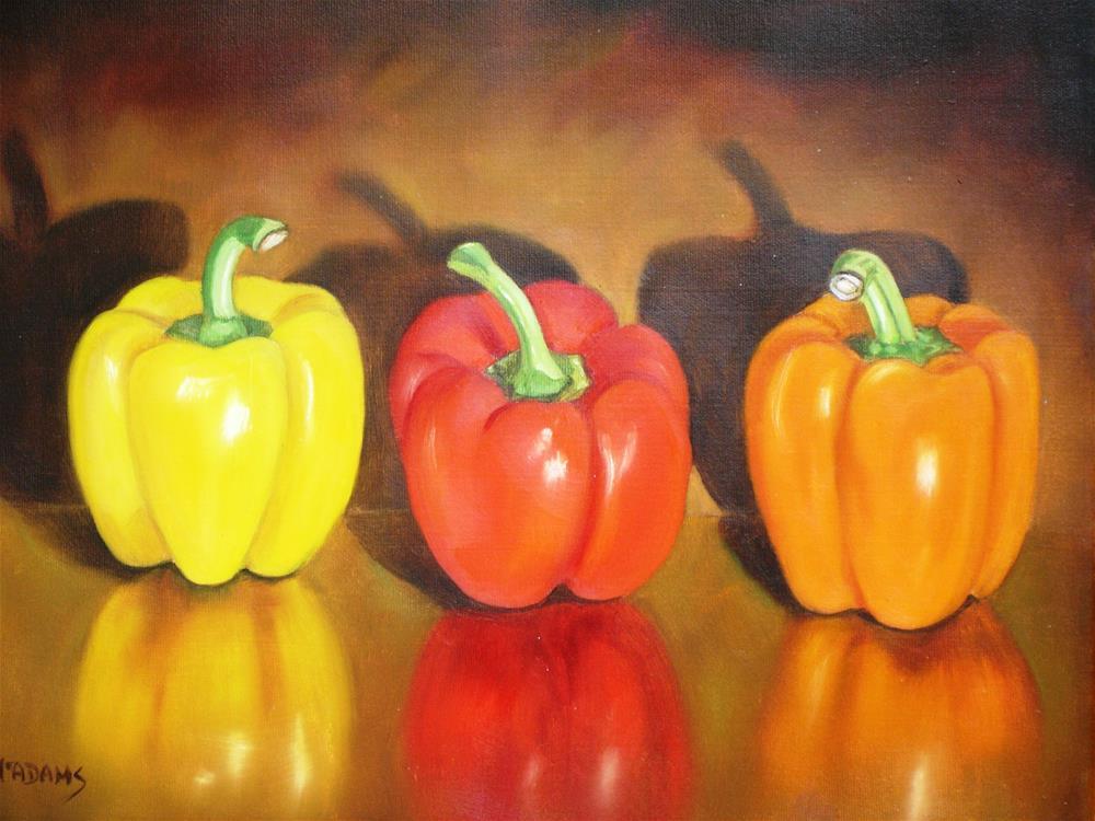 """pretty Peppers"" original fine art by Phyllis McAdams"