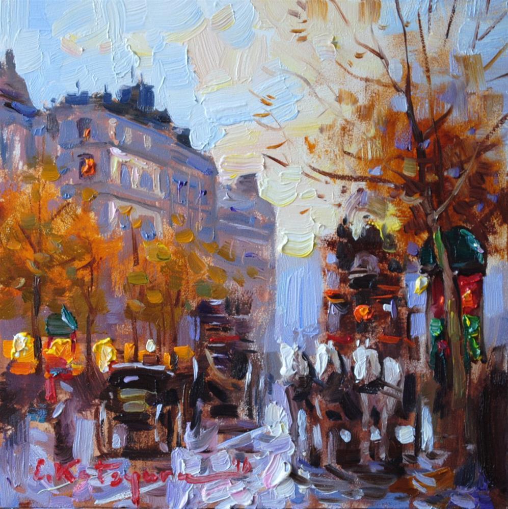 """Glimpse From The Past"" original fine art by Elena Katsyura"
