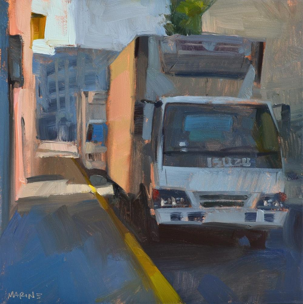 """Isuzu Alley"" original fine art by Carol Marine"