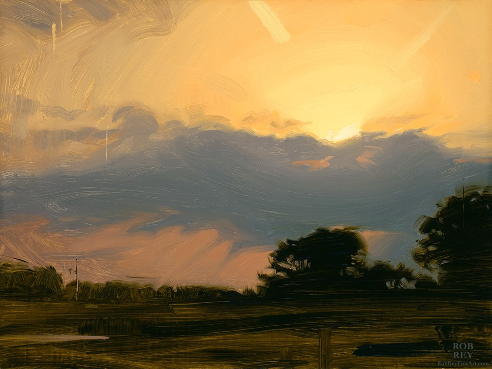 """Golden Light"" original fine art by Rob  Rey"