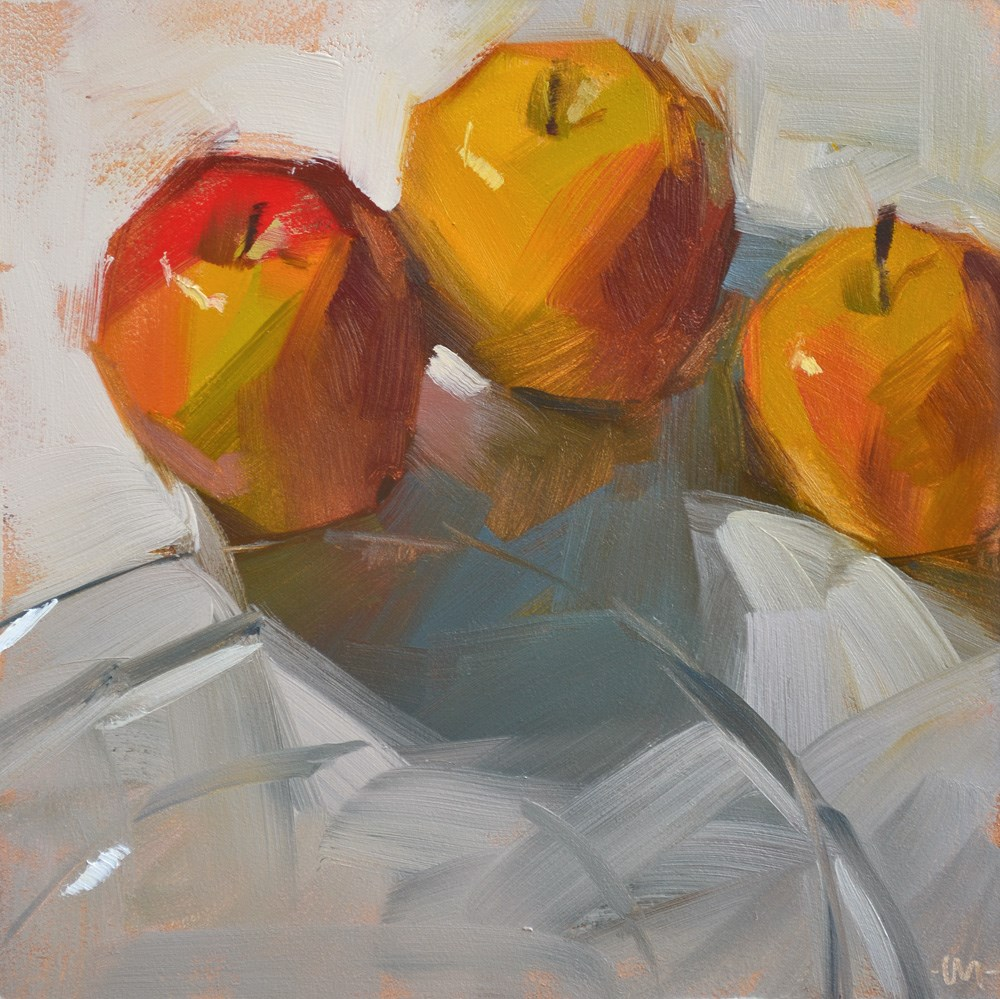 """Apples with Appetites"" original fine art by Carol Marine"