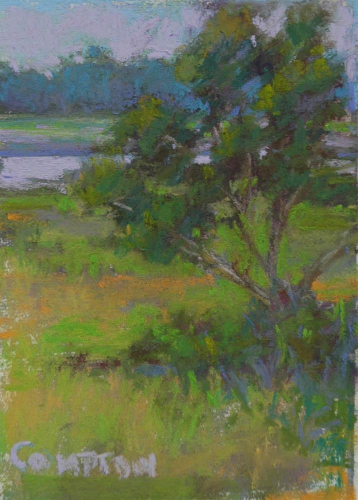"""Tiny Painting Season"" original fine art by Eden Compton"