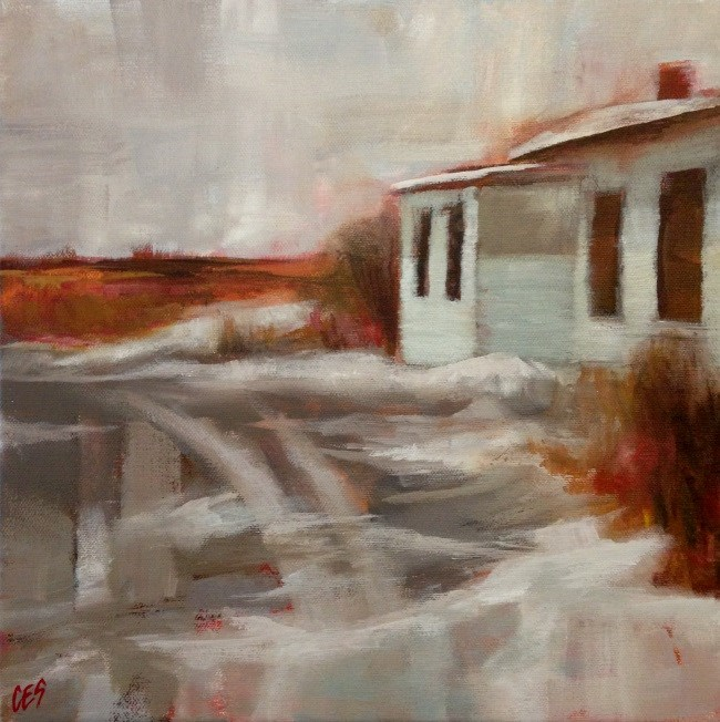 """Slushy Driveway"" original fine art by ~ces~ Christine E. S. Code"