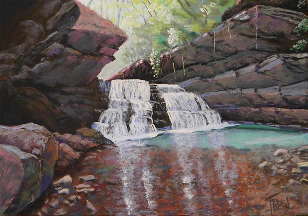 """The Falls"" original fine art by Toby Reid"