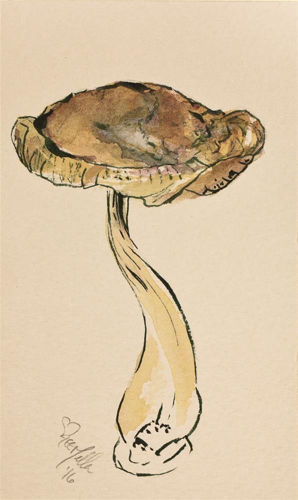 """""""Daily Study #165 - Shiitake Mushroom"""" original fine art by A.E.E. Miller"""