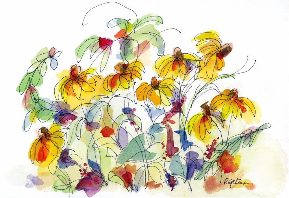 """""""Susan's Garden"""" original fine art by Pamela Gatens"""