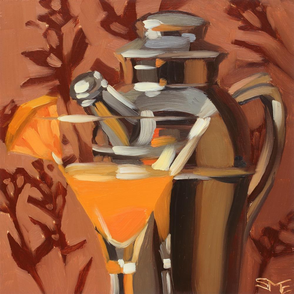 """Pegu Fan"" original fine art by Sheila Evans"
