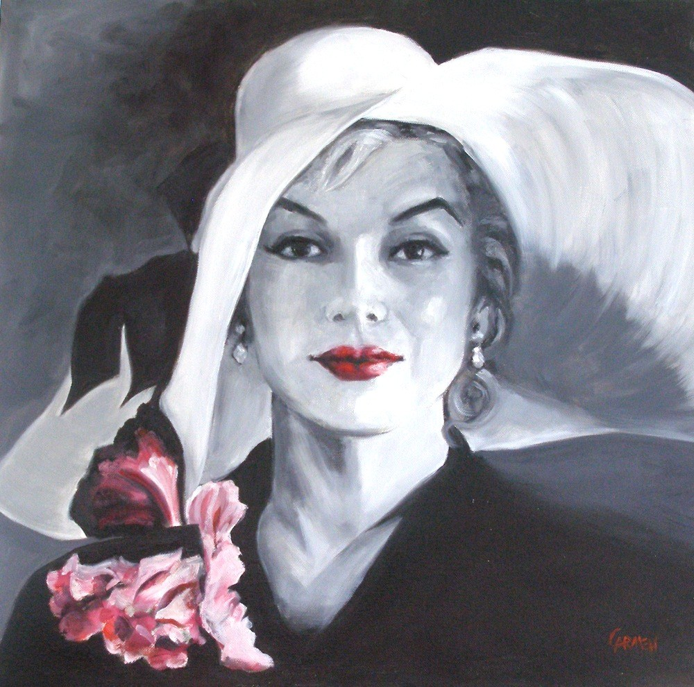"""Marilyn, 20x20 Oil on Canvas"" original fine art by Carmen Beecher"