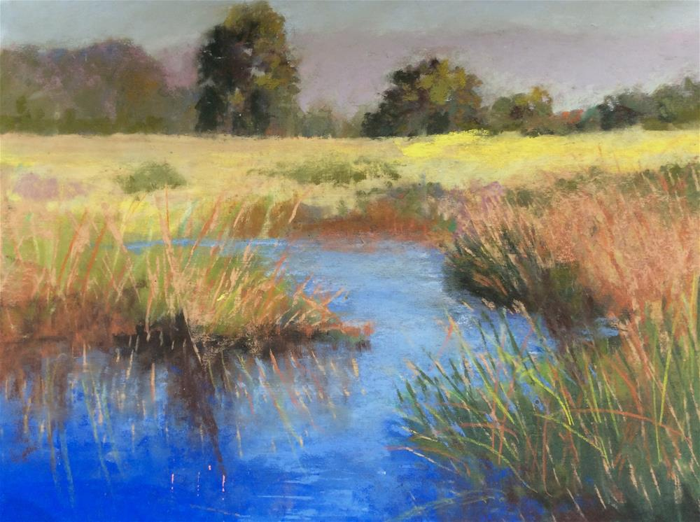 """Spring at the Lake"" original fine art by Jacquelyn Blue"
