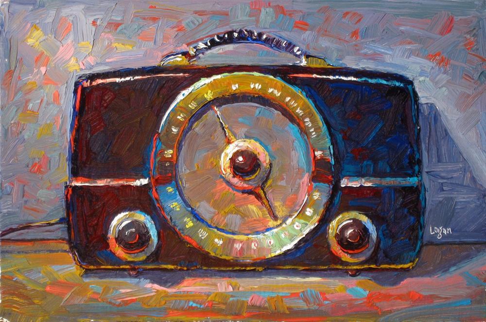 """Zenith K725 Mid Century Radio"" original fine art by Raymond Logan"